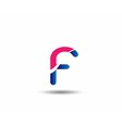 letter F logo icons design template elements vector image
