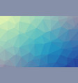 light blue polygonal background creative vector image vector image