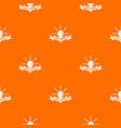 light control pattern orange vector image vector image