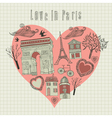 Love in Paris vector image vector image