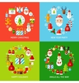 Merry Christmas Concepts Set vector image vector image