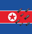 north korea bombs vector image vector image