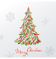 Paper Christmas background vector image