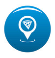 pizza map pointer icon blue vector image