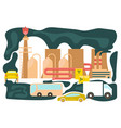 polluted urban landscape vector image