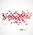 red dots and squares pattern element for business vector image