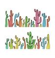 saguaro cactus color cactus set vector image vector image