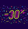 sale -30 percent banner for discount vector image vector image