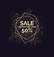 sale banner gold glitter shiny particles vector image vector image