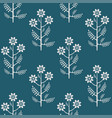 seamless colorful graphical chamomile pattern vector image