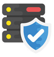 server security flat icon vector image vector image