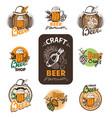 set icon beer vector image vector image
