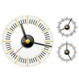set of clocks vector image vector image