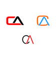 set of initial letter ca logo template design vector image