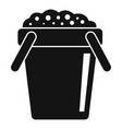 soil bucket icon simple style vector image vector image