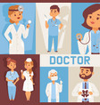 team doctors and other hospital workers with vector image vector image
