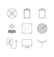 technology linear icon set simple outline icons vector image vector image