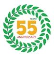 Template Logo 55 Anniversary in Laurel Wreath vector image vector image