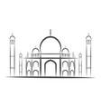 temple taj mahal agra india icons black and vector image