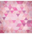 Textured vintage pink triangles background vector image vector image
