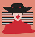 the fashion girl in style pop art vector image vector image