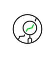thin line round simple analytics logo vector image vector image