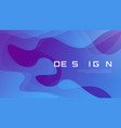 abstract gradient geometric design colorful wavy vector image vector image