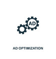 ad optimization icon premium style design from vector image vector image