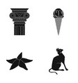 animal tourism cafe and other web icon in black vector image vector image