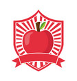 apple fresh healthy food emblem vector image vector image