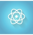 Atom molecule the symbol of physics and vector image vector image