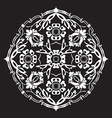 Black and white round flower abstract isolated vector image vector image