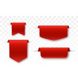 blank labels offer tag red colored promo ribbons vector image vector image