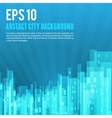 Blue city background vector image vector image