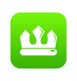 bronze crown icon green vector image vector image