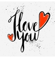 Calligraphic inscription I love you vector image vector image
