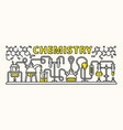 chemistry experiment banner outline style vector image vector image