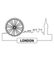 cityscape of london vector image