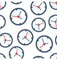clock sign icon seamless pattern background time vector image vector image
