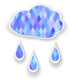 cloud with rain vector image vector image