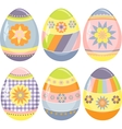 Cute collection of easter eggs vector image