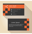 dark gray and red simple business card design vector image vector image