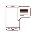 device screen with speech bubble isolated icon vector image vector image