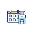 early booking rgb color icon vector image