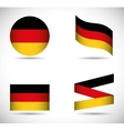 Flag icon set black red yellow Germany vector image vector image