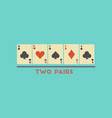 flat icon stylish background poker two pairs vector image vector image