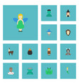 flat icons goblin wizard mythology and other vector image vector image