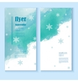 flyer template with a winter background vector image vector image