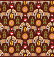 folk seamless pattern in scandinavian style vector image vector image
