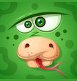funny cute crazy snake character vector image